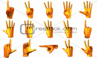Counting orange hands