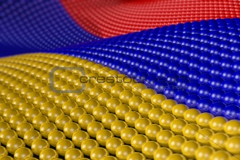 Wave of spheres in the colors of Armenia