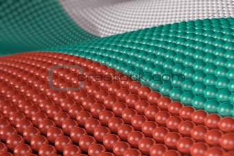 Wave of spheres in the colors of Bulgaria