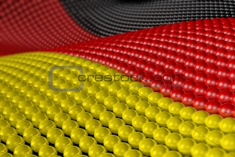 Wave of spheres in the colors of Germany