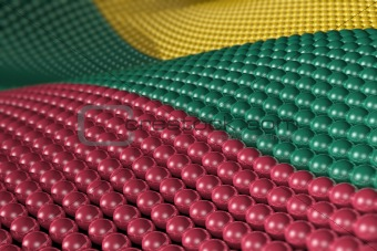 Wave of spheres in the colors of Lithuania