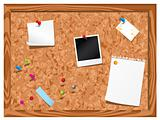 Corkboard with stationery