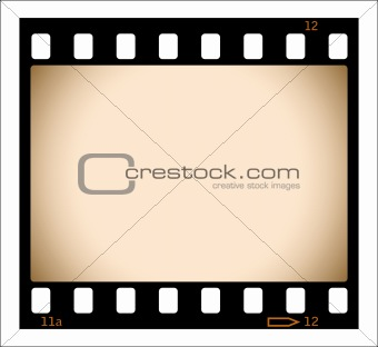 Sepia film strip illustration