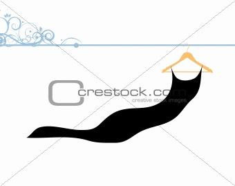 Beautiful dress black on hanger