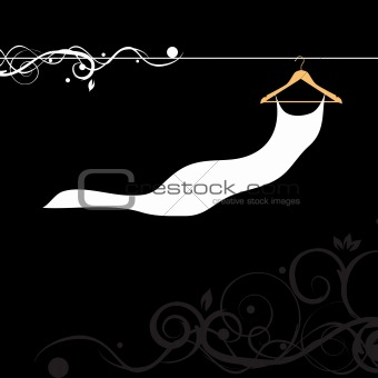 Beautiful dress white on hanger