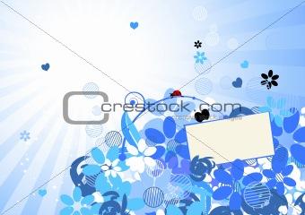 Floral background for your design