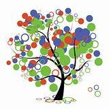 Funny art tree for your design