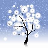 Winter tree beautiful