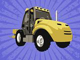 Vector fork truck