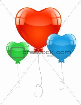 air baloons in form of heart