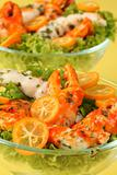 Surimi salad with kumquat