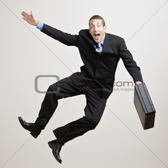 Businessman Clicking Heels