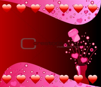 Valentine Champagne Background