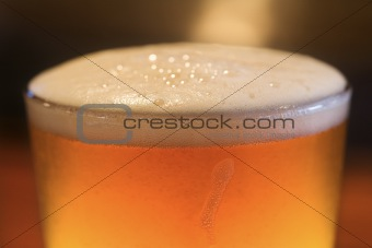 Foam on Glass of Beer