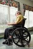 Elderly Man in Wheelchair