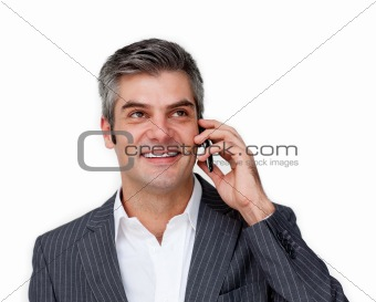 Charismatic businessman on phone