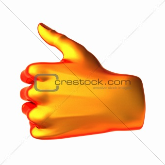 ok abstract orange hand