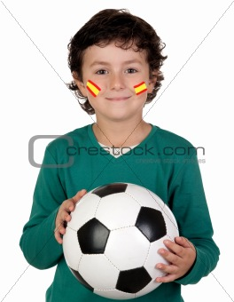 Adorable child follower of Spanish Selection