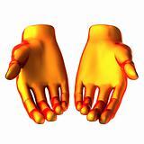 holding orange hand