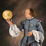 Shakespeare with globe.