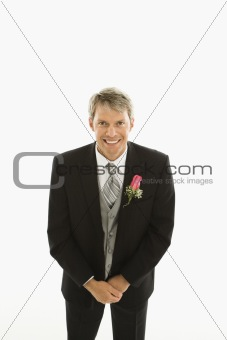 Portrait of groom.