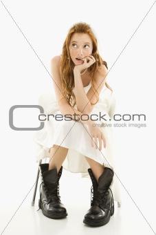 Bride wearing combat boots.