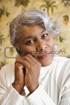 Portrait of mature woman.