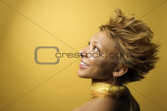 African-American woman portrait.