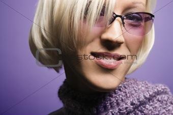 Caucasian woman portrait.