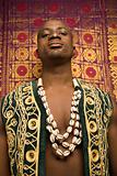 Man wearing traditional African clothing.