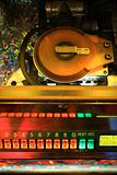 Close-up of jukebox.