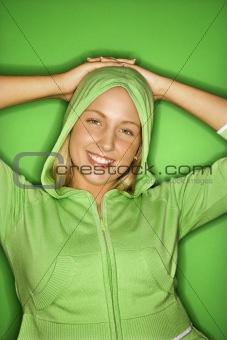 Caucasian teen girl portrait.