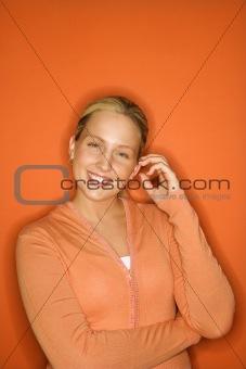 Portrait of Caucasian teen girl.