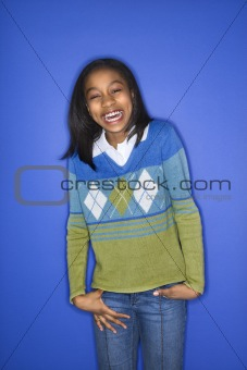 African-American girl portrait.