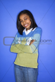 African-American teen girl portrait.