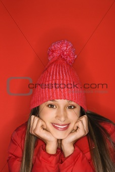 Asian-American teen girl portrait.
