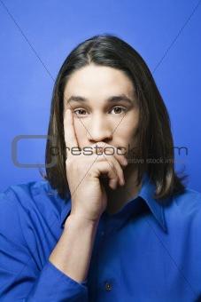 Asian-American teen boy portrait.