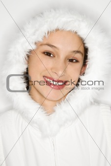 Portrait of Asian-American teen girl.