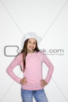 Asian-American teen girl portrait.