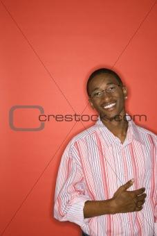 African-American teen boy portrait.