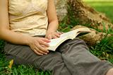 Reading at park