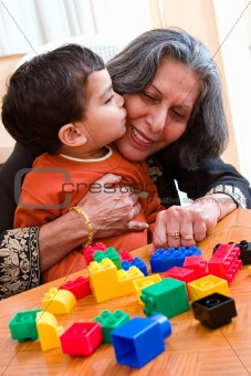 A kiss for Grandma