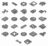 3D Titanium icons basic