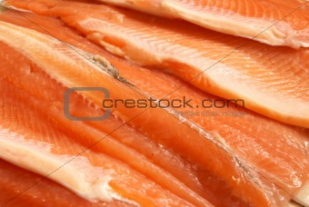sliced trout