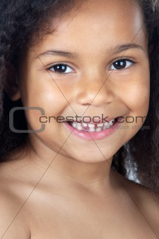 adorable girl smiling
