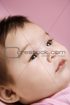 Close up of babys face.