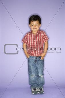 Portrait of standing boy.