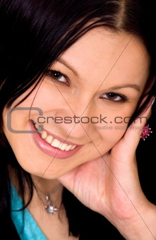 girl smiling in a portrait