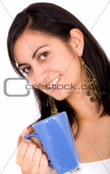 girl with a healthy drink