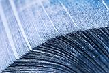 Stack of Blue Napkins (Shallow DOF)